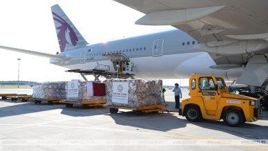 Photo of Самолет с гуманитарной помощью из Катара прибыл в Беларусь