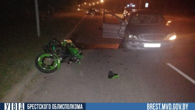 Photo of В Лунинецком районе в ДТП пострадал мотоциклист