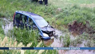 Photo of В Лунинецком районе Mercedes съехал в мелиоративный канал