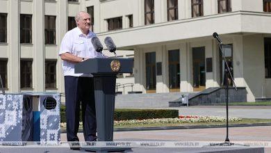 Photo of Лукашенко прибыл на митинг на площадь Независимости