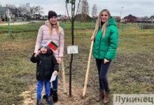 Photo of Фотофакт. Лунинецкие семьи высадили липы в сквере семейных деревьев