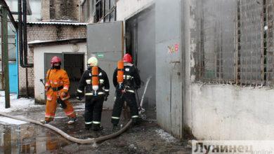 Photo of В Лунинце горел склад готовой продукции