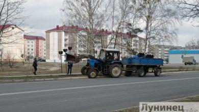 Photo of В Микашевичах на центральных улицах демонтировали конструкции для вертикального озеленения