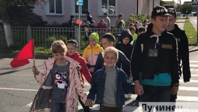 "Photo of Акция ""Безопасная дорога в школу с БРСМ"" прошла в Лунинце"