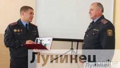 Photo of В РОВД состоялись торжественные проводы на заслуженный отдых «легенды» лунинецкого розыска.