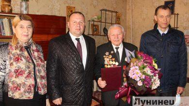 Photo of Почетный гражданин Лунинецкого района Павел Добринец отмечает день рождения